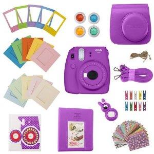 Slinger FujiFilm Instax Mini 9 Accessory Kit - Purple