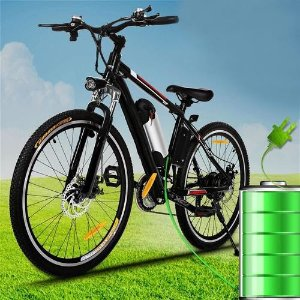 现价$269.99 狂省$4700TOPPER 电动山地自行车 附带可拆卸电池充电器