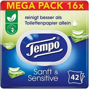 16包折后€19 平均€1.18/包Tempo 得宝湿厕纸 洋甘菊香型 干净又健康 日常囤货必备