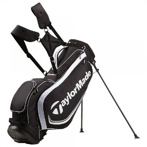 NEW TaylorMade Golf Custom Stand 4.0 Carry Bag 4-way Top Black / White by TaylorMade