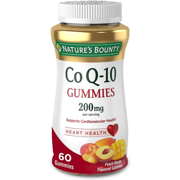 Nature's Bounty 辅酶Q10软糖 200mg 60粒 蜜桃芒果口味
