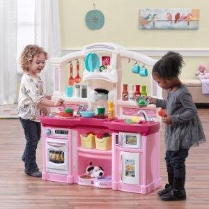 $74.88史低价:Step2 小厨房儿童玩具套装,粉色