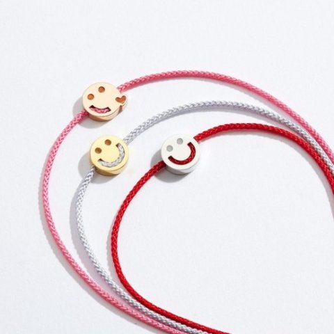 低至5折 小红绳速来GetRUIFIER 小众英伦首饰新年大促 收可可爱爱的笑脸手链
