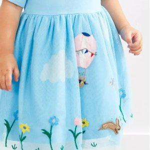 折扣升级:Hanna Andersson 女童连衣裙促销 细节超级精彩