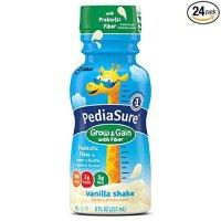 PediaSure Grow & Gain 香草味儿童营养奶,含膳食纤维 8盎司, 24 瓶装