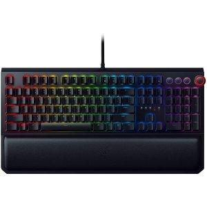$84.99史低价:Razer BlackWidow Elite 黑寡妇精英版 绿轴 机械键盘