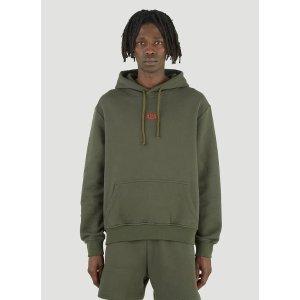 424Logo Hooded Sweatshirt in Green军绿连帽卫衣