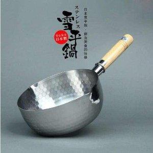 $35.99(原价$38.99)收1.2垮脱Yoshikawa 吉川不锈钢雪平锅 听说懂生活的人都有一个?