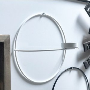 WALLITYDecorative Metal Wall Accessory White - 8.27