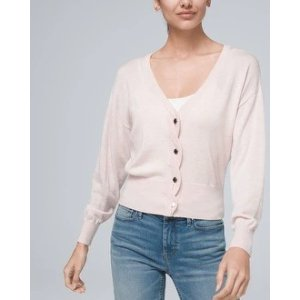 White House Black Market Cable Placket Relaxed Cardigan