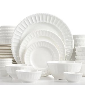 $39Gibson White Elements Paloma Embossed 42-Piece Set, Service for 6