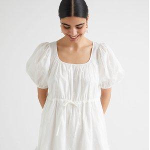 2.7折 £15起即可入手& Other Stories 纯白连衣裙专场 蕾丝款仙气满满