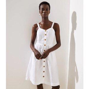 LOFTStriped Button Down Flare Dress | LOFT