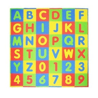 $22.49(原价$39.99)史低价:Tadpoles 儿童36片字母游戏垫,36平方英尺