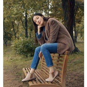 Skechers金高银同款 深色女款小短靴
