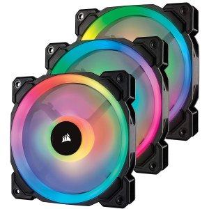 $75Corsair LL Series LL120 RGB 120mm 3-Pack