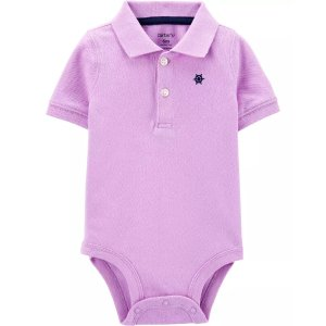 Carter's婴儿素色polo包臀衫