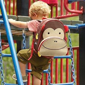 $19.54(原价$27.94)Skip Hop 可爱儿童书包,小猴子款