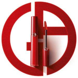 Giorgio Armani送正装口红红管丝绒唇釉
