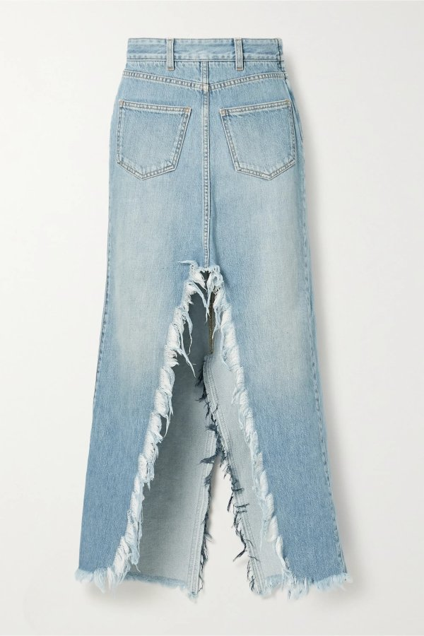 Frayed denim 牛仔裙