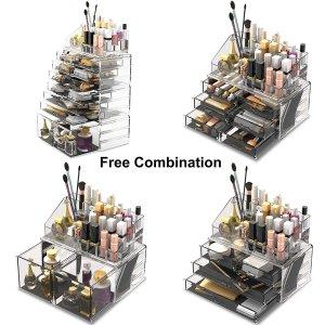 $46.99 Muji平替化妆品收纳神器 4部分自由组合 4色可选 乳液口红粉底都可收纳
