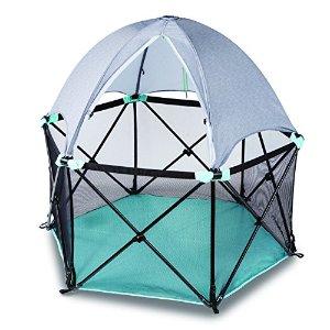 $70.85 (原价$119.99)史低价:Summer Infant 便携式豪华儿童游戏床,带遮阳顶棚