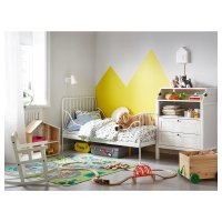 Ikea MINNEN 可调长度儿童铁艺床架