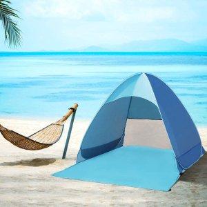7.4折起 低至€19.9可收Amazon 便携沙滩帐篷闪促 终极防风防晒 羡煞旁人的海滩VIP位