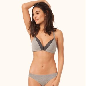 2 For $51, 3 For $68The All-Day Deep V No-Wire: Heather Gray