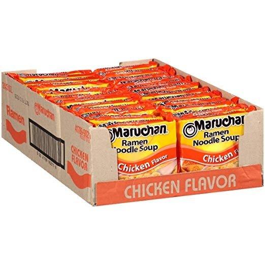 鸡肉口味方便面 3.0 Oz 24袋装