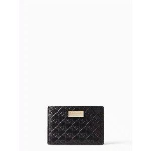Kate Spade买包包$19换购卡包暗纹短款钱包