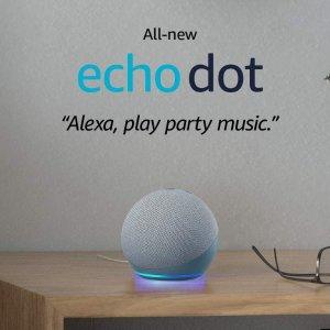 $59(原价$79)Amazon Echo Dot 第4代 智能管家音箱