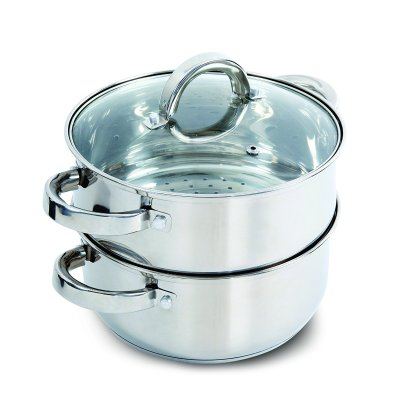 $16 Oster Hali Steamer Set with Lid for Stovetop Use, Stainless ...