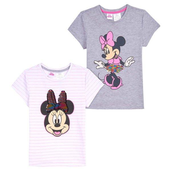 儿童米妮闪片T恤两件装