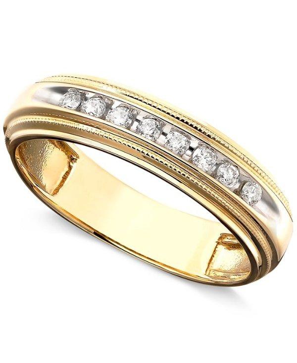 14k金镶钻1/5 ct. t.w.戒指