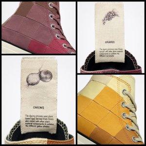 双色Chuck 70仅€120收Converse Plant Color 格纹拼接 用葡萄和洋葱做的球鞋?