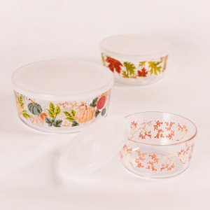 $4.99Mainstays 带盖玻璃碗套组 3个装