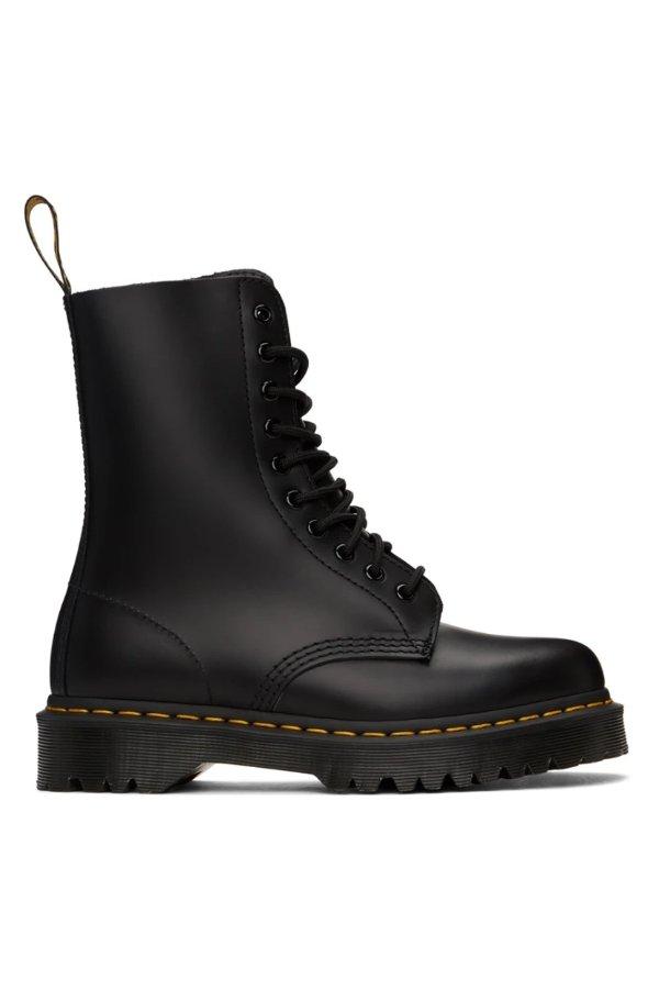 1490 10孔黑色马丁靴