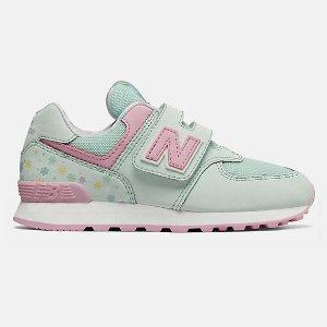 New Balance莫奈绿 仅剩5码574 拼色童鞋 5 6.5