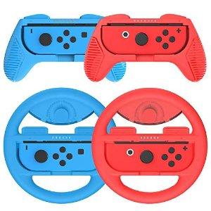 仅售€15.99Switch Joy-con控制器 方向盘手柄4件套