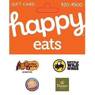 $40(原价$50)Happy Eats 礼卡 Buffalo Wings、Dave & Buster's都可用