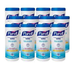 $6.80 平均$0.56/桶补货:PURELL 除菌清洁擦手湿巾 100片 x 12桶 美亚自营