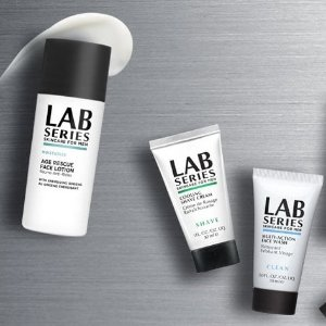 Receive 4 FreeTravel Size Samples with Purchase ofLab Series For Men AGE RESCUE Face Lotion