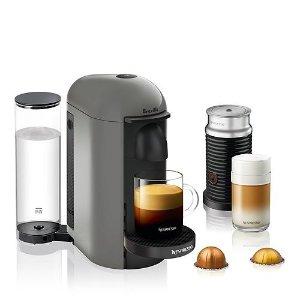 一律$129.99 送30颗胶囊限今天:Amazon Nespresso VertuoPlus咖啡机+奶泡机促销