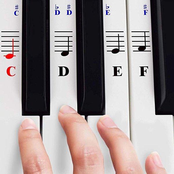 钢琴贴纸+送教程