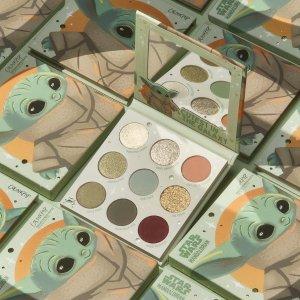无门槛7.5折 $12(原价$16)限今天:Colourpop #Baby Yoda绝美抹茶9色眼影盘 星战粉必入