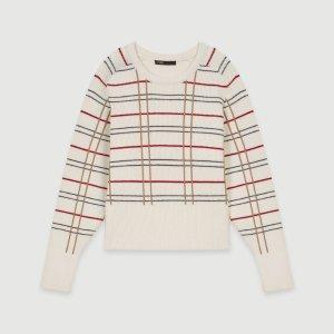 119MAJEUR Plaid jacquard sweater - Sweaters - Maje.com