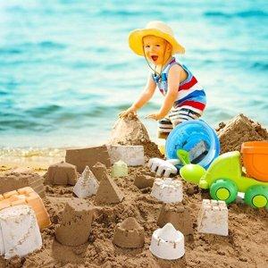 FANURY Beach Sand Toys Set for Kids, 14Pcs