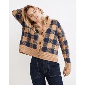 Madewell格纹针织外套