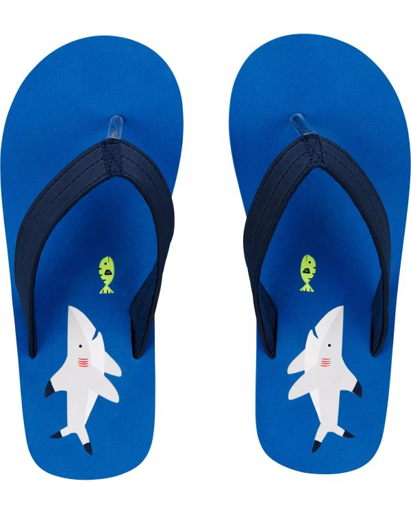 儿童鲨鱼夹脚拖鞋